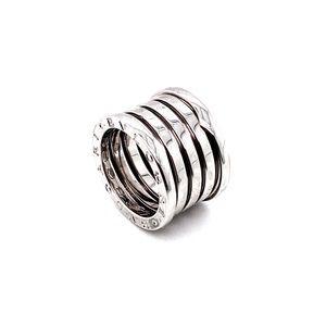 Bvlgari 18k white gold B.zero 5 band ring